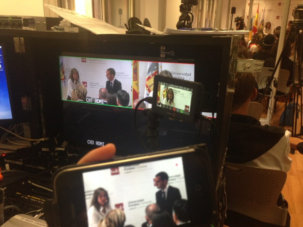 Livestream during a inauguration La Orotava 2016